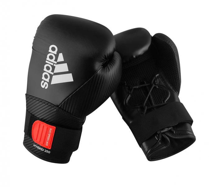 Перчатки боксерские Hybrid 250 черные, 14 унций Adidas