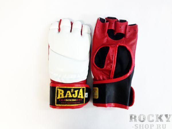 Купить Перчатки MMA, липучка Raja размер l белый (арт. 385)