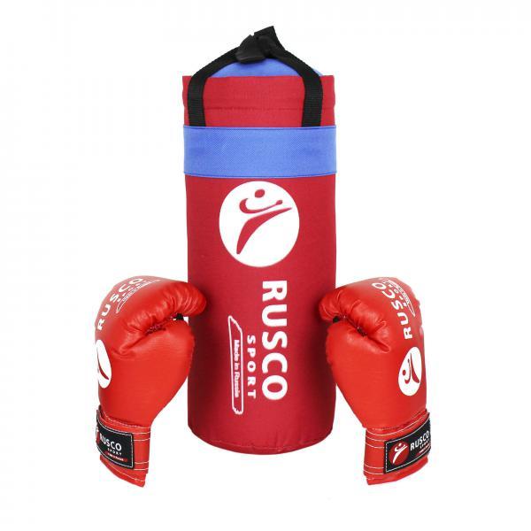 Набор Rusco Sport Red боксерский мешок + перчатки для начинающих, 6 OZ Rusco