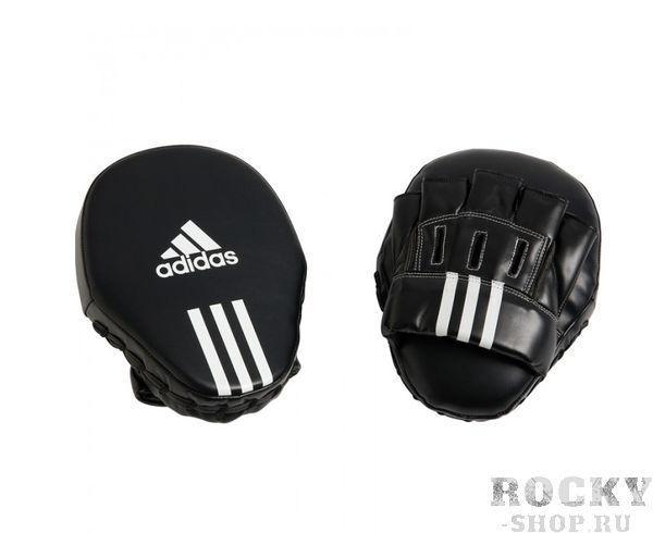 Купить Лапы Focus Mitt Leather 10 черные Adidas (арт. 3883)