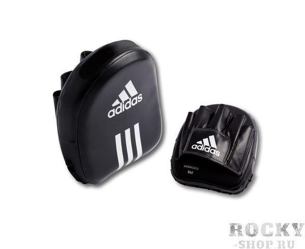 Лапы Square Focus Mitt черные AdidasЛапы и макивары<br>Лапы adidas Square Focus Mitt черные. Квадратные тренировочные лапы. Материал: полиуретан PU3G.<br><br>Цвет: черные