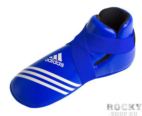 Защита стопы Super Safety Kicks синяя, синяя AdidasЗащита тела<br>Super Safety Kicks. Профессиональные футы для кикбоксинга, каратэ и других видов единоборств. Материал: полиуретан<br><br>Цвет: L