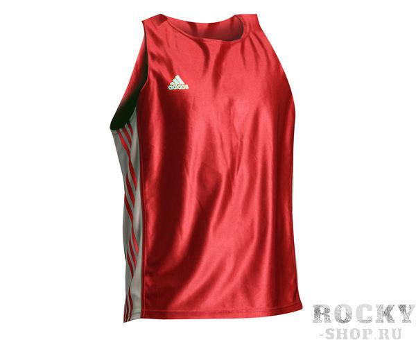 Майка боксерская Amateur Boxing Tank Top красная, красная AdidasБоксерские майки<br>Amateur Boxing tank top. Майка боксёрская adidas. Материал: полиэстер.<br><br>Цвет: XS