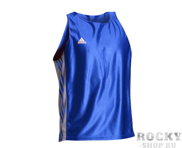 Майка боксерская Amateur Boxing Tank Top синяя, синяя Adidas