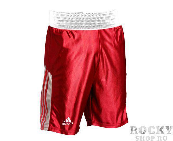 Шорты боксерские Amateur Boxing Shorts красные, красные AdidasШорты для бокса<br>Шорты боксерские adidas Amateur Boxing Shorts красные. Материал: полиэстер.<br>