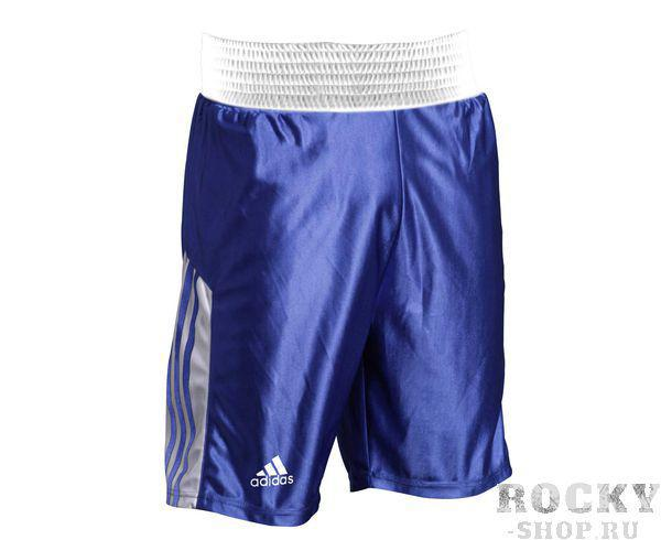 Шорты боксерские Amateur Boxing Shorts синие, синие AdidasШорты для бокса<br>Шорты боксерские adidas Amateur Boxing Shorts. Материал: полиэстер.<br>