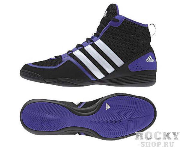 Боксерки Adidas BoxFit.3, черно-фиолетовые Adidas