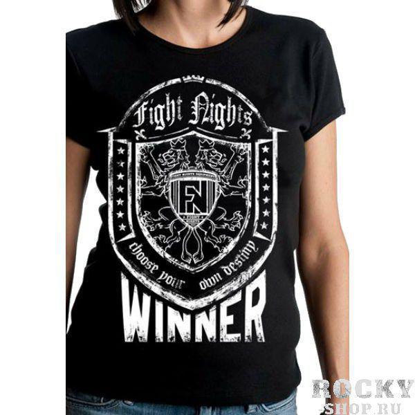 Футболка женская Fight Nights Winner черный (арт. 3930)  - купить со скидкой
