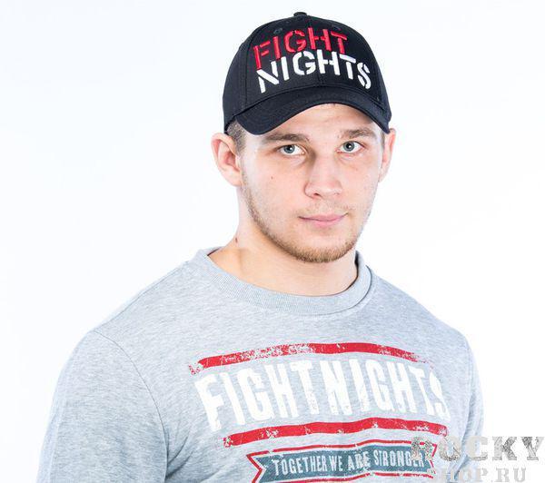Бейсболка Fight Nights прямой логотип, черная Fight NightsБейсболки / Кепки<br>Окружность головы: 50-55 см. - размер S/M 55-60 см. - размер M/L 60-65 см. - размер L/XL<br><br>Размер INT: M/L
