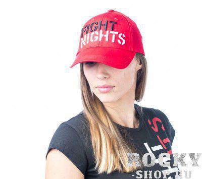 Купить Бейсболка Fight Nights прямой логотип красная (арт. 3935)