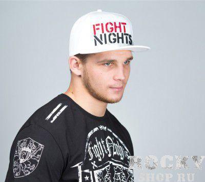Купить Бейсболка Fight Nights Лого New Era белая FB02004 (арт. 3938)