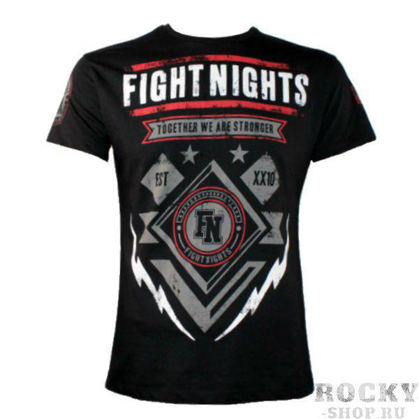 Футболка Fight Nights Молния, черная Fight NightsФутболки / Майки / Поло<br>Современность, яркость, живость, готовность пойти в бой - вот о чем говорит данная модель. Оригинальный дизайн и эффектный рисунок черной футболки Fight Nights Молния смотрится очень стильно. Можете больше не ждать износа, потому что это изделие просто не знает, что это такое.<br><br>Размер INT: L