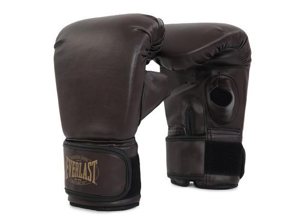 Перчатки снарядные Everlast Vintage, Коричневые EverlastCнарядные перчатки<br>Предназначены для работы на тяжелых боксерских мешках, подушках и тд, Снабжены липучкой для фиксации запястия, Пенный наполнитель обеспечивает максимальный комфорт и защиту, Сделаны из высококачественной синтетической кожи, Оригинальный дизайн и цвет классики из 1910 года, Стильные и прочные<br>