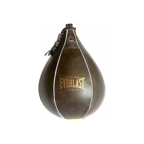 Груша скоростная Everlast Vintage 23x15, Коричневая EverlastСнаряды для бокса<br>Боксерская груша Everlast Vintage - отличный вариант для тех, кто только начинает работать с пневматическими грушами. Отлично сбалансирована и обладает хорошим рикошетом. Сделана из высококачественной синтетической кожи, дизайн 1910 года.<br>