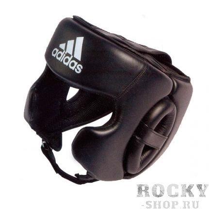 Шлем боксерский тренировочный, Чёрный AdidasШлемы ММА<br>Ультра лёгкий кожаный тренировочный боксёрский шлем. <br><br> Минимальная масса шлема в своём классе<br> Жёсткий наполнитель гасит силу удара, препятствует получению травм<br> Удобная, продуманная система крепления и регулировки позволяет быстро самостоятельно снимать и одевать шлем<br> Высокое качество исполнения и великолепный дизайн<br> Мягкая синтетическая подкладка способствует отводу пота и препятствует перегреву<br> Удобная заводская упаковка - чехол<br> Материал - натуральная кожа<br><br>Размер: L