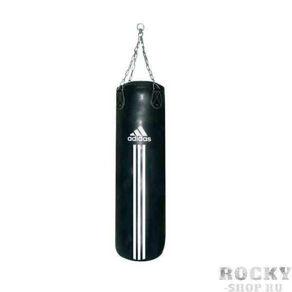 Мешок боксерский, 90*40 см, Чёрный AdidasСнаряды для бокса<br>Боксёрский мешок весом 23 кг. <br> Материал – натуральная кожа<br> Стальная цепь для крепежа<br>