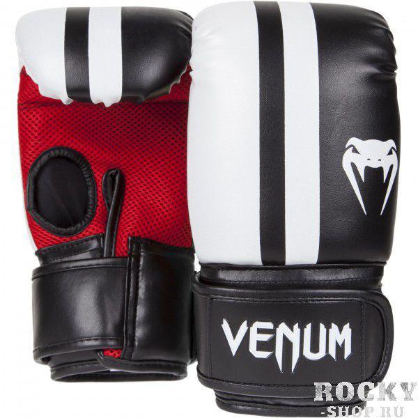 Перчатки снарядные Venum Elite Bag Gloves VenumCнарядные перчатки<br>Снарядные перчатки Venum Elite созданы для обеспечения максимальной защиты и комфорта во время отработки ударов на снарядах. Предотвращают от травм благодаря высокой плотности пены, позволяют работать более интенсивно.Сетчатая панель присутствует для оптимальной терморегуляции.&amp;nbsp;Технические характеристики:премиумная синтетическая кожа Skintexмногослойная пена для поглощения силы ударасетчатая панель для терморегуляцииТайланд, ручная работа&amp;nbsp;<br>