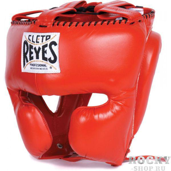 Шлем боксерский, тренировочный, Размер S Cleto ReyesБоксерские шлемы<br>Идеальная анатомическая форма<br> Многослойный наполнитель из латексной пены<br> Удобная конструкция крепления<br> Хороший обзор<br> Материал - 100% кожа<br><br>Цвет: Красный