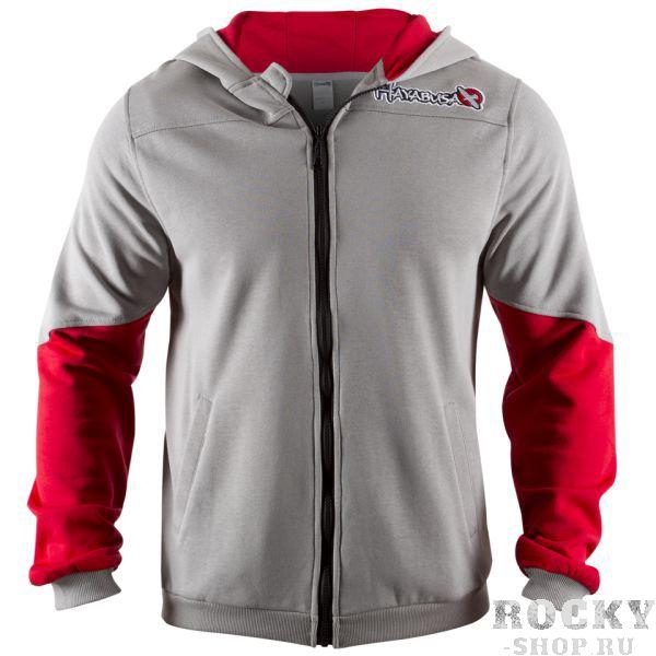Олимпийка Hayabusa Wingback Hoodie Grey/Red HayabusaТолстовки / Олимпийки<br>Новинка весеннего сезона - олимпийкаHayabusa Wingback Hoodie Grey/Red. Очень удобная классическая разноцветная олимпийка с капюшоном. Обладает уникальным цветным дизайном рукавов, высококачественная вышивка на груди и премиум аппликация на спине.<br><br>Размер INT: XL