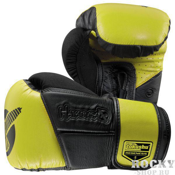 Купить Перчатки боксерские Hayabusa Tokushu® Regenesis 12oz Gloves Black / Yellow 12 oz (арт. 4084)