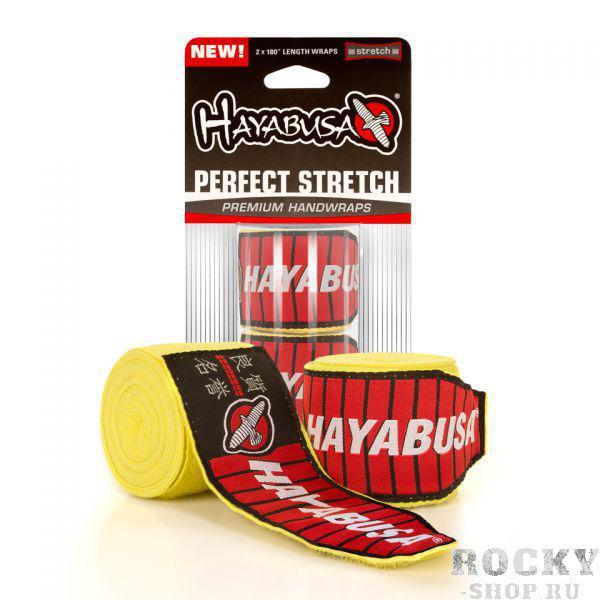 Бинты боксерские Hayabusa Perfect Stretch 2, 4.5 метра, 4,5 метра HayabusaБоксерские бинты<br>Бинты боксерскиеHayabusa Perfect Stretch 2 Handwraps Yellowобеспечивают полную защиту Ваших рук и запястьев. Научно разработанные для возникновения травм рук и запястьев. Их просто обязаны иметь спортсмены, занимающиеся ММА, боксом или тайским боксом.В отличии от других бинтов, бинтыHayabusa Perfect Stretch 2 изготовлены из инновационного, высокоэффективного волокна для защиты суставов и костей на Ваших руках. Длина петли была увеличена на 71% для обеспечения надежной фиксации. Эти бинты - самые передовые на рынке.Наносите удары с уверенностью в бинтахHayabusa Perfect Stretch 2.Характеристики:Максимально производительные материалыСистема фиксации стала длиннее на 71%Ультра-мягкая конструкцияДлина 180 дюймовМожно стирать в машинке<br>