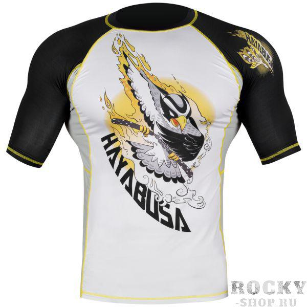 Купить Рашгард Hayabusa Ninja Falcon Rashguard Short Sleeve - Black / Yellow (арт. 4102)