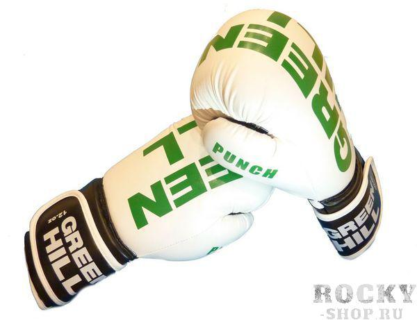 Боксерские перчатки PUNCH, 10 унций Green HillБоксерские перчатки<br>Новая модель боксерских перчаток от компании Green Hill выполнена в агрессивном дизайне и яркой расцветке. Перчатки отлично сидят на руке, благодаря широкой застежке на запястье. Трехслойный пенный наполнитель на ударной поверхности сохранит руки и лицо противника от чрезмерных травм. <br>Материал - высококачественный кожзаменитель. <br><br>Профессиональный дизайн, аля Мексиканский стиль. <br><br>Надежная защита запястья. <br><br>Плотно сидят на руке. <br><br>10 унций.<br>