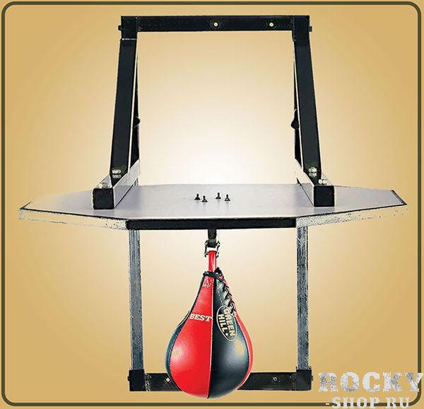 Платформа для пневматической груши Green Hill Green HillСнаряды для бокса<br>Удобная и прочная платформа для пневматической груши. В ней воплощается все о чем может мечтать любой тренер по боксу. Этот девайс просто необходим в боксерском зале. <br>Основа из прочной стали<br><br>Регулируется по высоте<br><br>Платформа из ударопрочного ДВП<br><br>Надежное крепление для пневмогруши<br><br>Поставляется без скоростной груши<br>