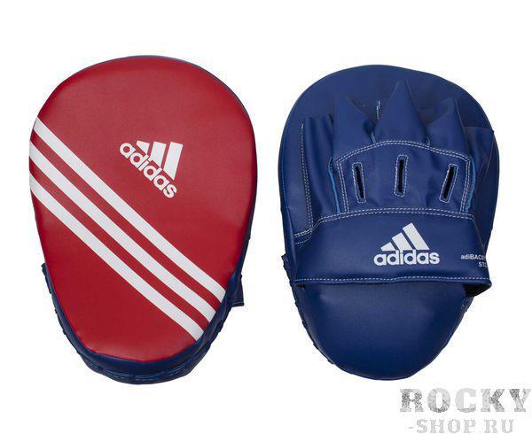 Лапы Focus Mitt Short Eco сине-красные AdidasЛапы и макивары<br>Короткие тренировочные боксёрские лапы. Материал: полиуретан PU3G.<br><br>Цвет: сине-красные
