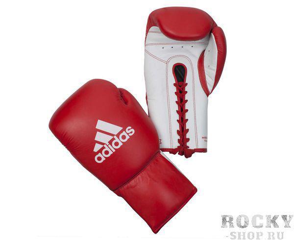 Купить Перчатки боксерские Glory Professional красно-белые Adidas 10 унций xl (арт. 4382)