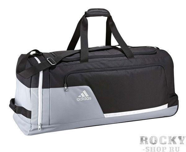 Купить Сумка спортивная с колесами Tiro XL черно-серая Adidas (арт. 4385)
