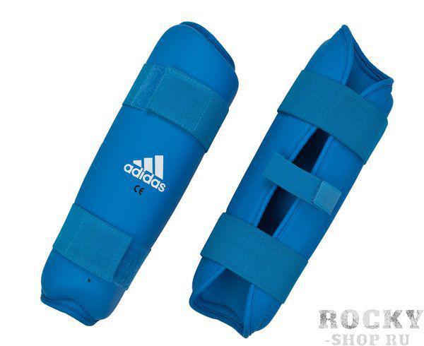 Купить Защита голени PU Shin Guard Adidas синяя (арт. 4387)