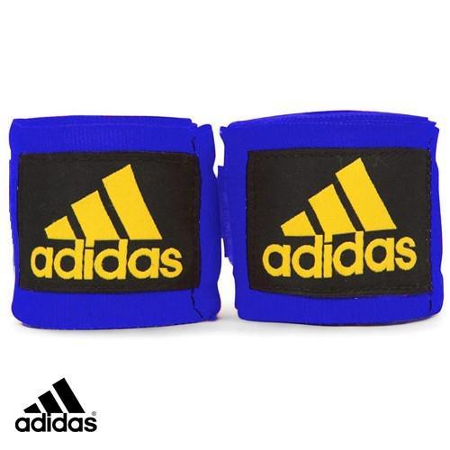 Бинт боксерский, 2,55 м AdidasБоксерские бинты<br>Эластичный боксёрский бинт на липучке. <br><br> Ширина 5 см<br> Длина 3,5 метра<br> Крепление на липучке<br> Эластичный материал обеспечивает максимальную фиксацию<br><br>Цвет: синий