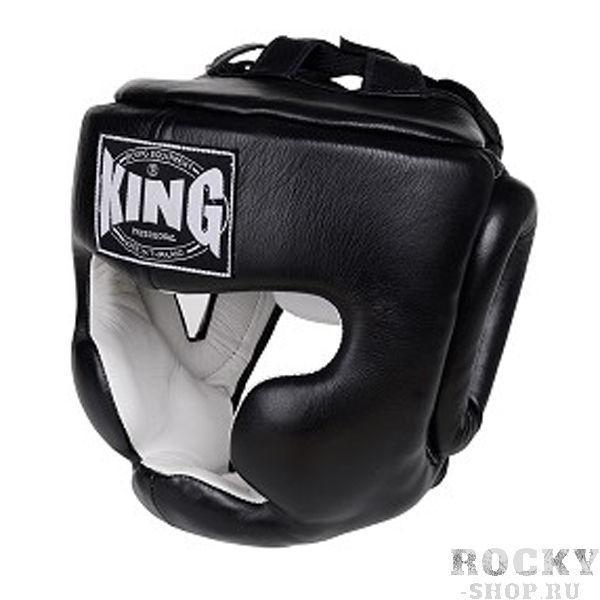 Шлем тренировочный, Размер XL KingШлемы ММА<br>Полный охват головы (зашита)<br> Высококачественная кожа<br> Многослойный упругий материал<br> Широкое поле зрения<br><br>Цвет: Черный
