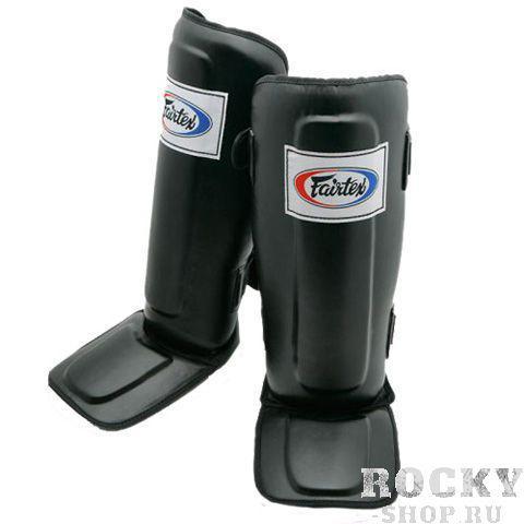 Защита голени и стопы боевая Fairtex, XL FairtexЗащита тела<br>Сшитые из запатентованной Fairtex Syntek Leather с тройным уровнем прослойки в области голени для максимального погашения удара. Используются для спаррингов и отработки ударов ногами в парах.  Защищает только 2/3 стопы (пальцы открыты).Фиксация на двух липучках.Изготовлены в ручную.Размер: M, L, XL. Произведено в Таиланде.Цвет: синий, черный, красный.<br>