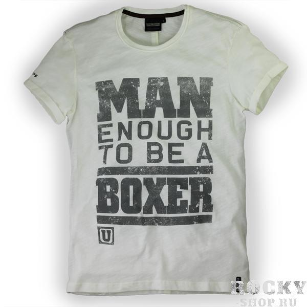 Футболка Man Enough To Be A Boxer / White