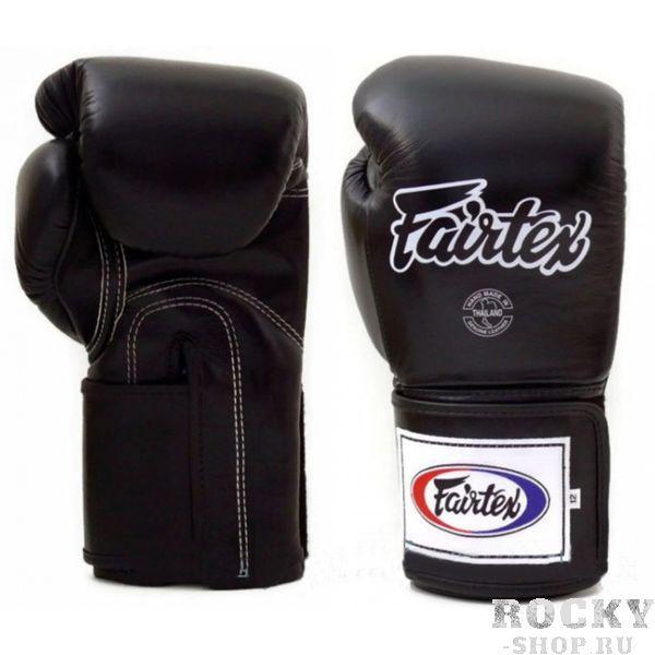 Тренировочные перчатки на липучке Fairtex, 18oz FairtexБоксерские перчатки<br>Перчатки BGV5 Pro Training Gloves - профессиональные, тренировочные перчатки. Отлично подходит для Кикбоксинга, Бокса и Муай Тай. Прекрасно подойдут для тренировочных спаррингов, выступления на соревнованиях, работы на мешках и на лапах. Перчатки ручной работы, выполнены из натуральной кожи. Особенностью этой модели является широкая липучка, она максимально защищает предплечье. Так же немного загнут большой палец, что позволяет сильнее сжимать кулак и наносить более сильные удары. Материал: кожа. Размер: 18oz. Цвет: черный. Производство: Таиланд.<br><br>Цвет: Черный