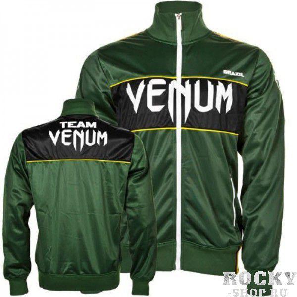 Купить Олимпийка Venum Team Brazil Polyester Jacket Green (арт. 4563)