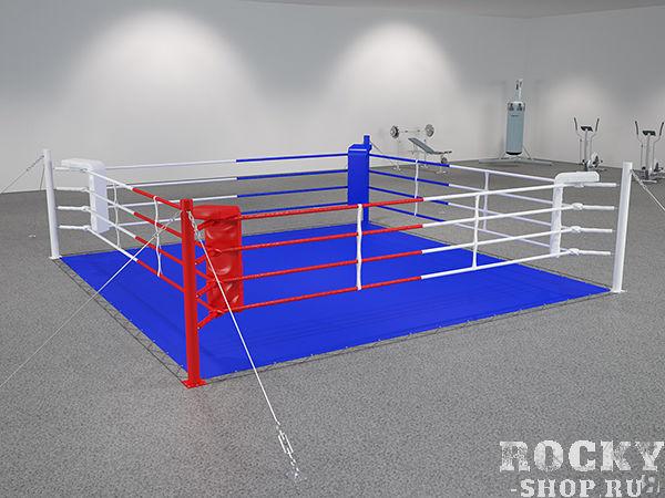 Боксерский ринг на растяжках, 7*7 метров Завод спортивного оборудованияОборудование для залов и клубов<br>Этот вид ринга схож по принципу монтажа с рингом на упорах, но в данном случае площадь монтажа составит около 1,5 метров с каждой стороны и противовесом для канатов выступят цепи, которые препятствуют «складыванию» ринга внутрь, когда на них воздействуют боксеры в процессе боя. Комплектация - настил ПВВ или ППЭ, покрывало (им. антискользящее ПВХ), подушки угловые, канаты в чехлах, перемычки, растяжки канатов, защита растяжек канатов, стойки, растяжки стоек, крепеж монтажный. 7х7м, боевая зона 6х6м, монтажная площадка 10х10м<br>Возможность переноса и повторной сборки в другом месте; <br><br>Не повреждает пол в зале; <br><br>Многофункциональность – позволяет проводить занятия боксом как профессионалам, так и новичкам и женским группам;<br><br>Доставка и сборка бесплатно (в пределах Москвы/МО);<br><br>Гарантия 1 год.<br>