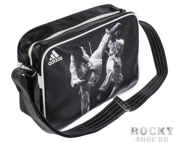 Купить Сумка спортивная Sports Bag Karate S Adidas черно-белая (арт. 4677)