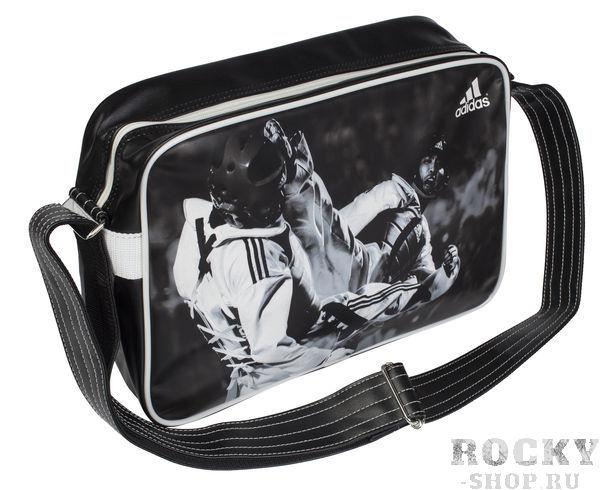Сумка спортивная Sports Bag Taekwondo S, черно-белая Adidas