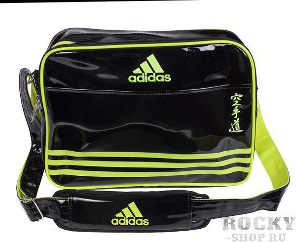 Купить Сумка спортивная Sports Carry Bag Karate L Adidas черно-желтая (арт. 4679)
