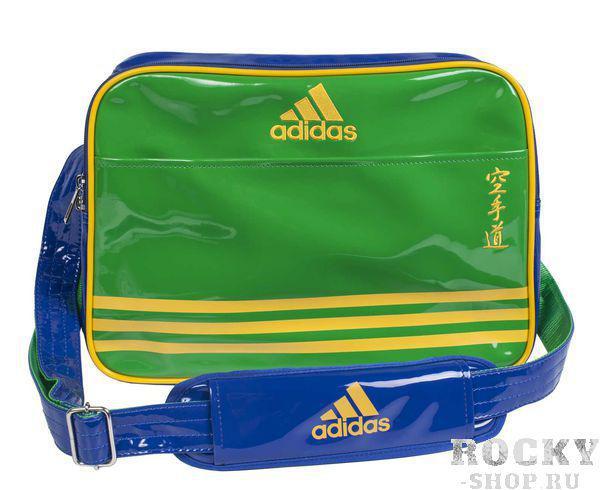 Сумка спортивная Sports Carry Bag Karate L Adidas зелено-сине-желтая (арт. 4683)  - купить со скидкой