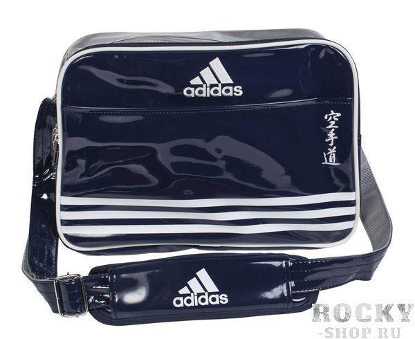 Купить Сумка спортивная Sports Carry Bag Karate L Adidas сине-серебристо-белая (арт. 4684)