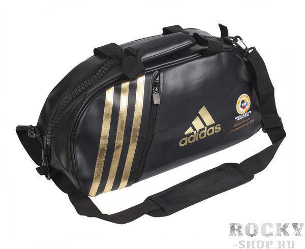 Купить Сумка спортивная Super Sport Bag Karate WKF S Adidas черно-золотая (арт. 4692)