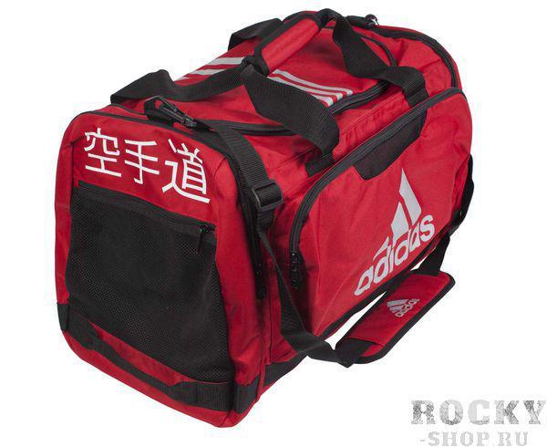 Сумка спортивная Nylon Team Bag Karate M красная Adidas (арт. 4694)  - купить со скидкой