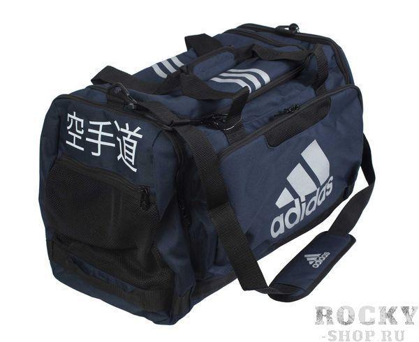 Сумка спортивная Nylon Team Bag Karate M синяя Adidas (арт. 4695)  - купить со скидкой