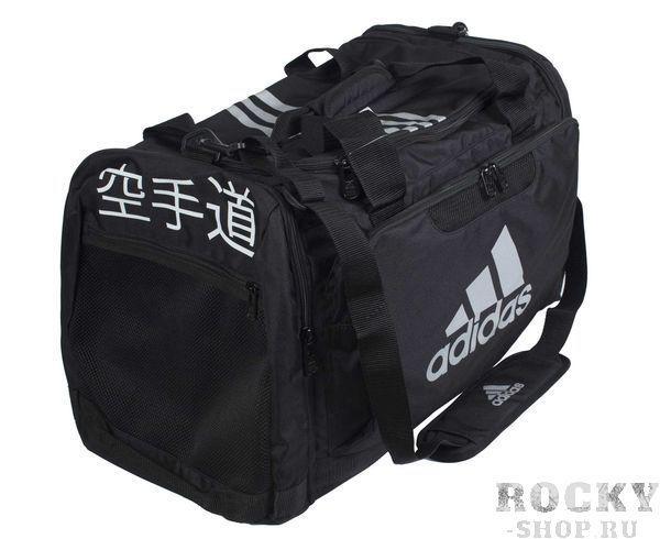 Купить Сумка спортивная Nylon Team Bag Karate M черная Adidas (арт. 4696)