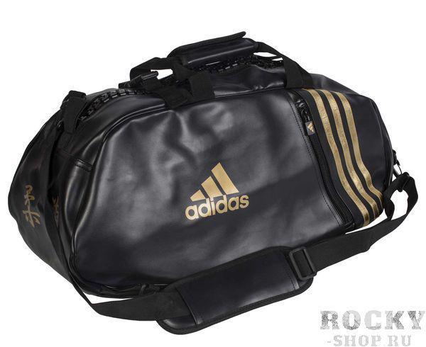 Купить Сумка спортивная Super Sport Bag Judo M черно-золотая Adidas (арт. 4699)