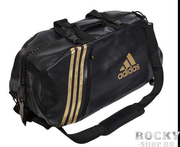 Сумка спортивная Super Sport Bag Karate L, черно-золотая AdidasСпортивные сумки и рюкзаки<br>Сумка-рюкзак adidas KARATE с широкои? молниеи?. Материал: искусственная кожа. Размер: L [70х35х35]<br>
